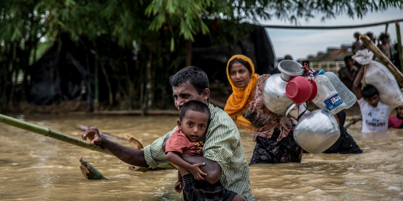 مئات الآلاف من الروهينغا دون مأوى أو مياه نظيفة في مخيمات غمرتها الأمطار