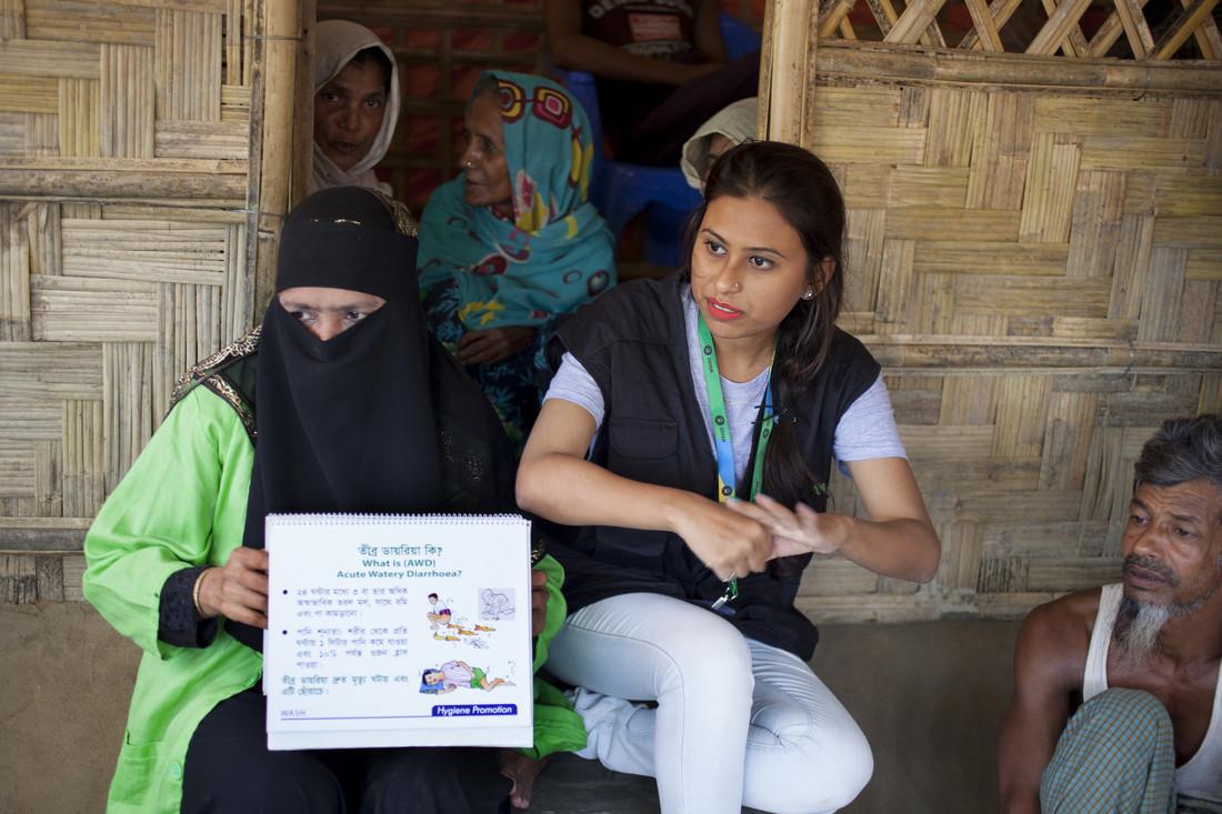 Oxfam in Asia - Bangladesh - Rohingya crisis - Humanitarian worker