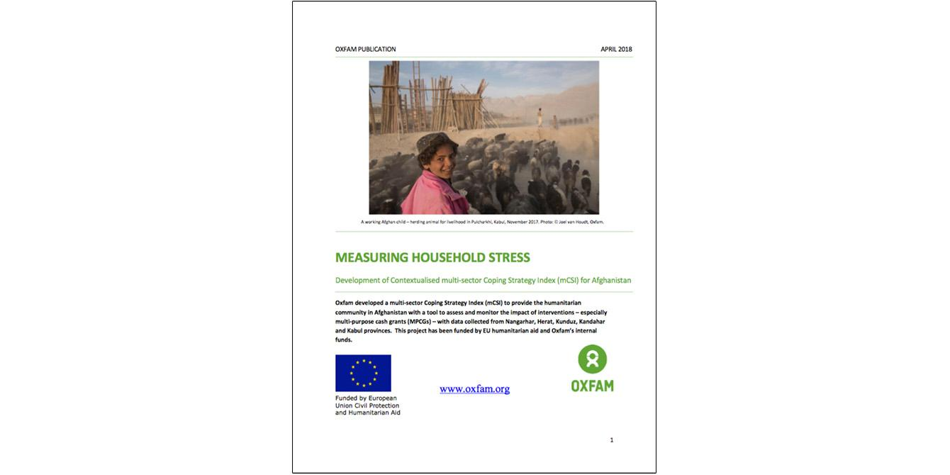 Oxfam in Asia - Publications - Afghanistan - Measuring Household Stress