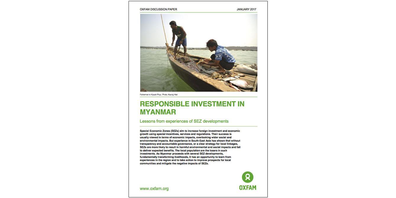 Oxfam in Asia - Publications - Myanmar - Responsible Investment in Myanmar