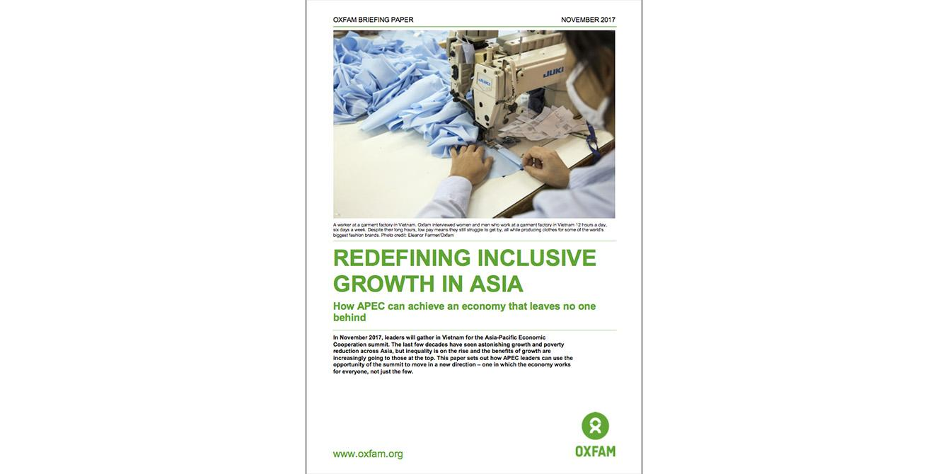 Oxfam in Asia - Publications - Redefining Inclusive Growth in Asia