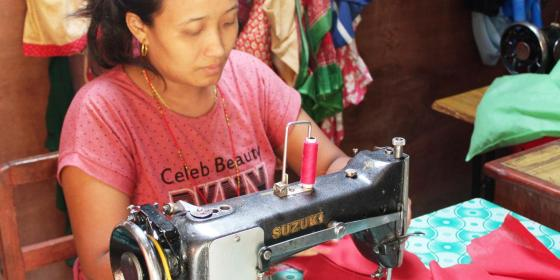 Oxfam in Asia - Publications - Nepal - Making Income through Homemade Napkins