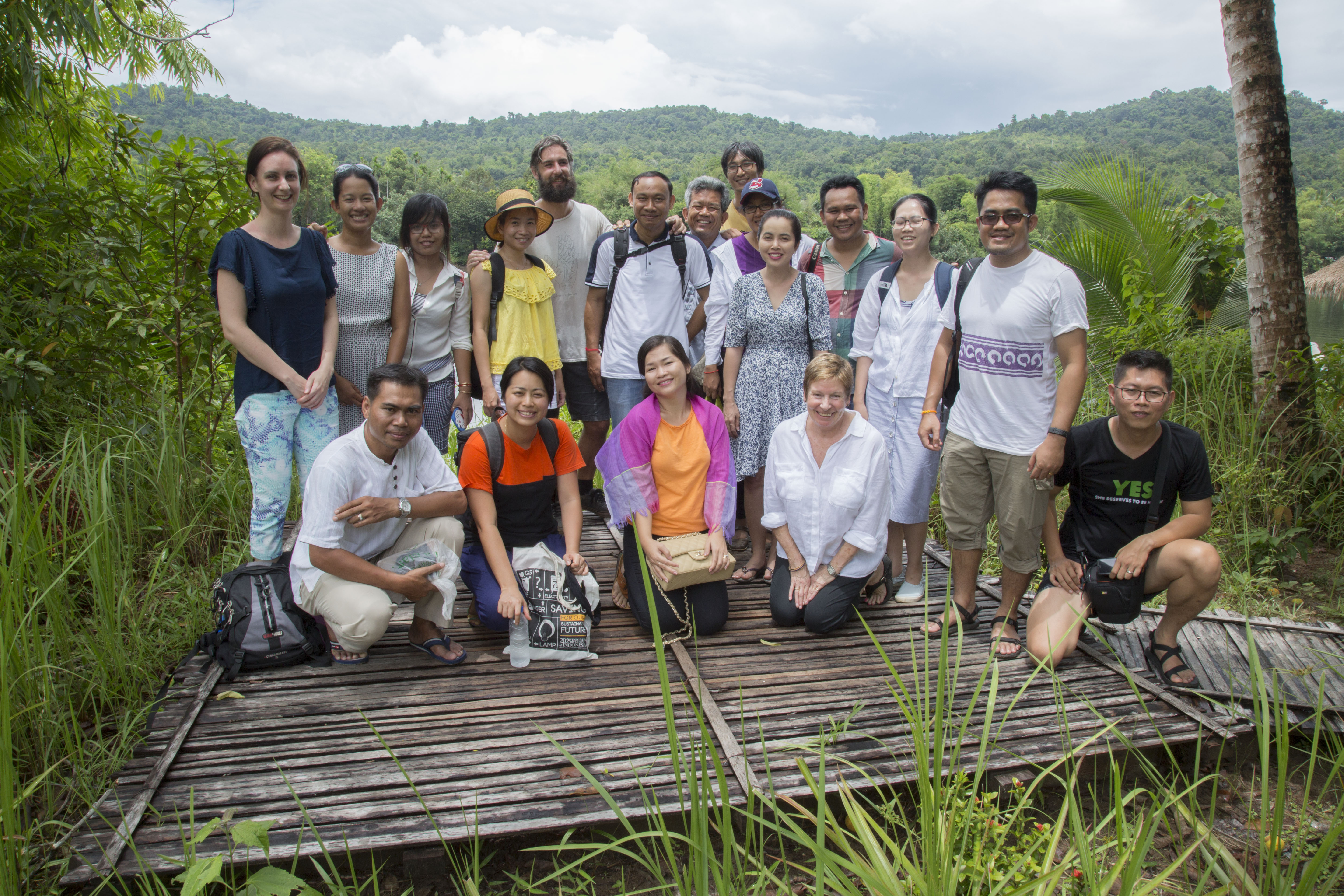 La and colleague during the retreat in Tatai, 2017