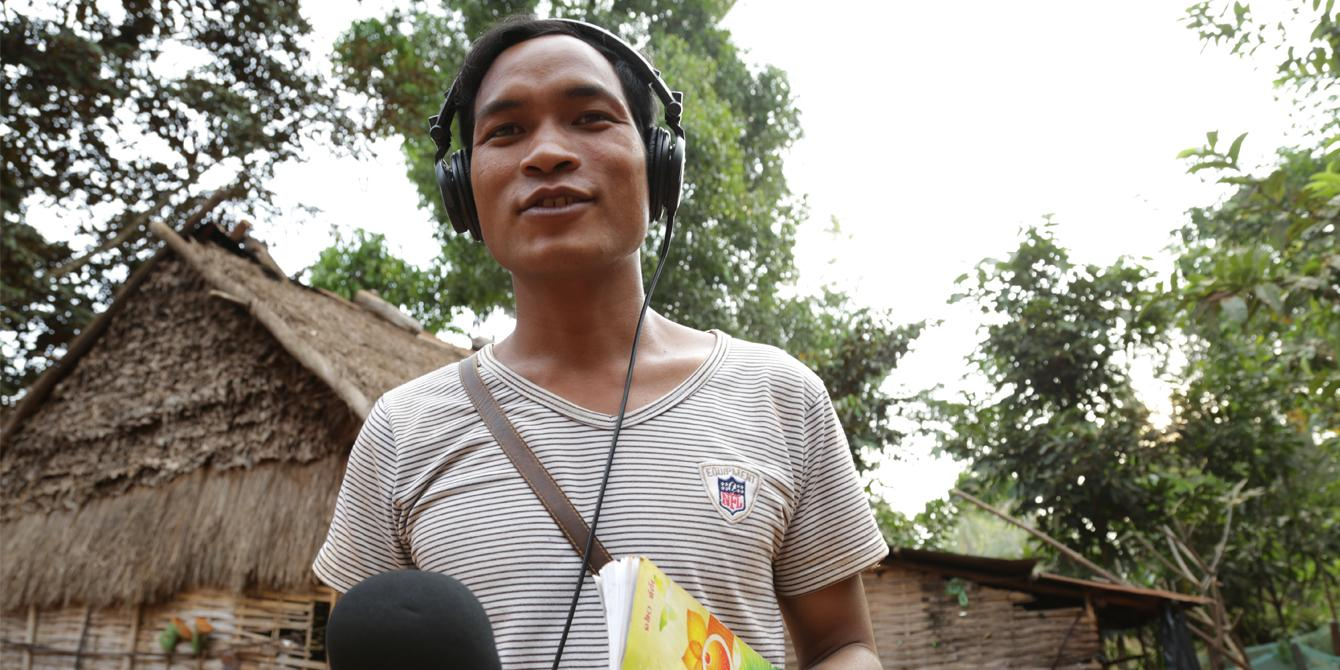 Romas Oeurn, 30-year old indigenous community reporter