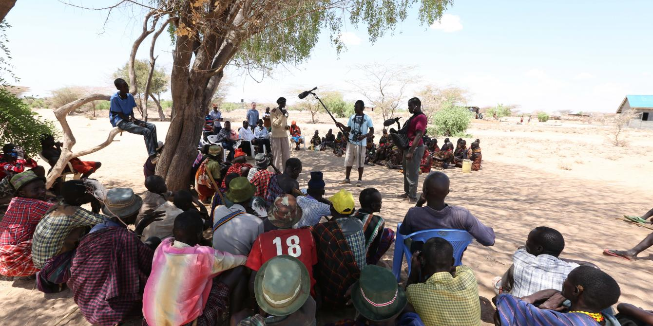 A public baraza meeting in Turkana County. Photo credit: Lightbox Limited