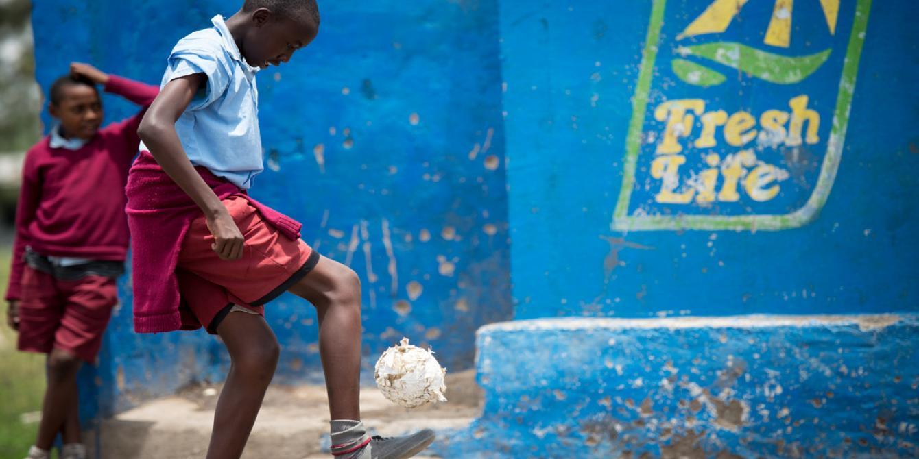 Aaron Macheso, Reuben Baptist primary school, Nairobi, Kenya. Photo Credit: Allan Gichigi / Oxfam