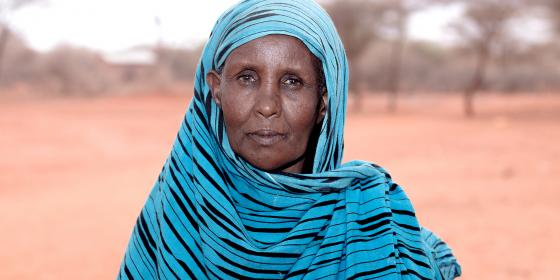 Duda Ousman, Wajir emergency drought response beneficiary. Photo Credit: Joy Obuya
