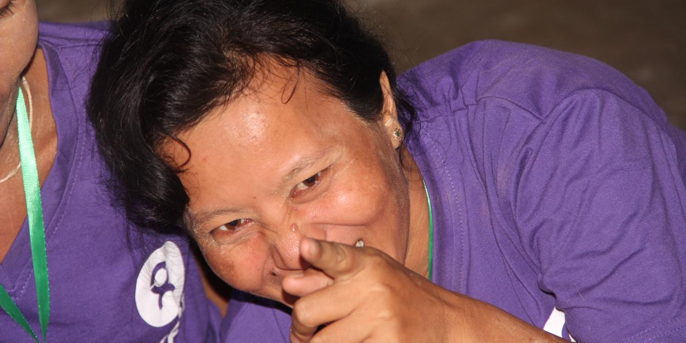 Participant during community exchange visit in Ayeyarwaddy Delta. Photo by: Kaung Latt/ oxfam