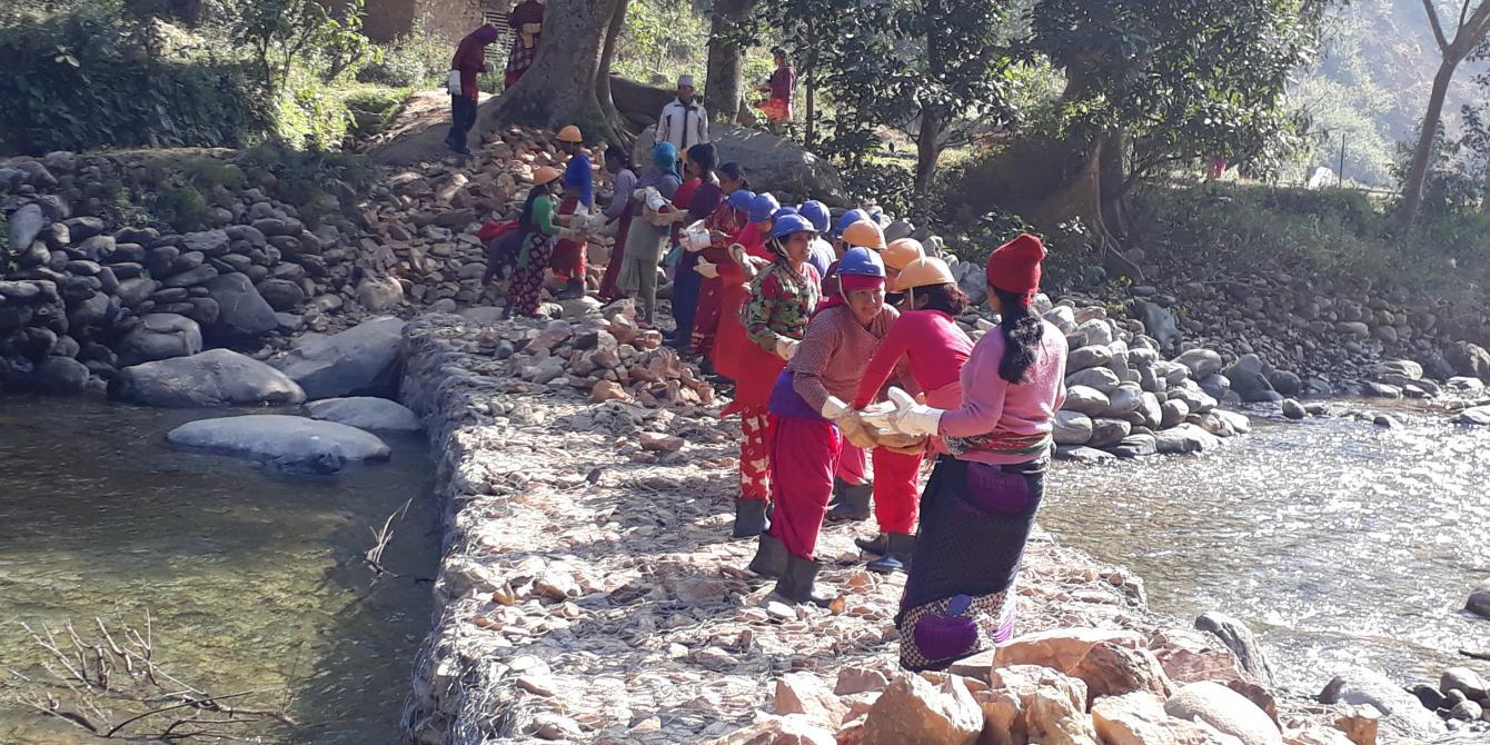 Cash for work in Nuwakot
