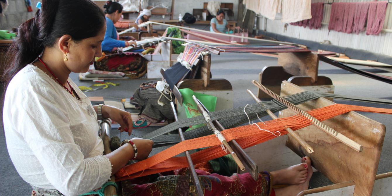 Making Handicrafts Oxfam In Nepal