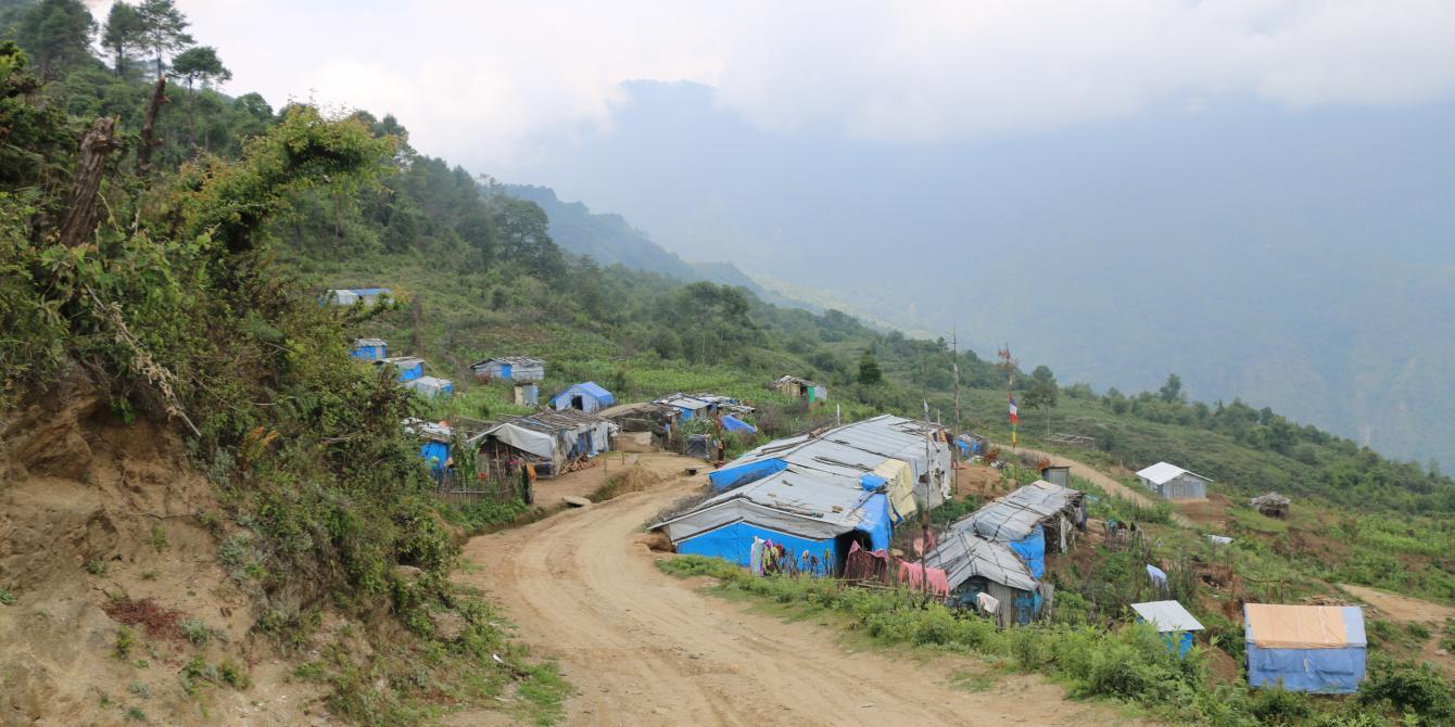 Displaced site in Selang, Sindhupalchowk