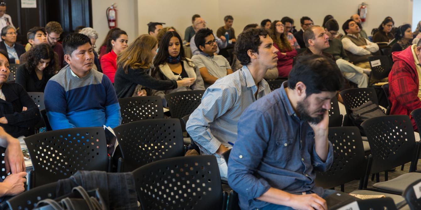 """Participantes del Foro Internacional """"Agronegocios, Medio Ambiente y Derechos Humanos. Lecciones desde America Latina""""."""