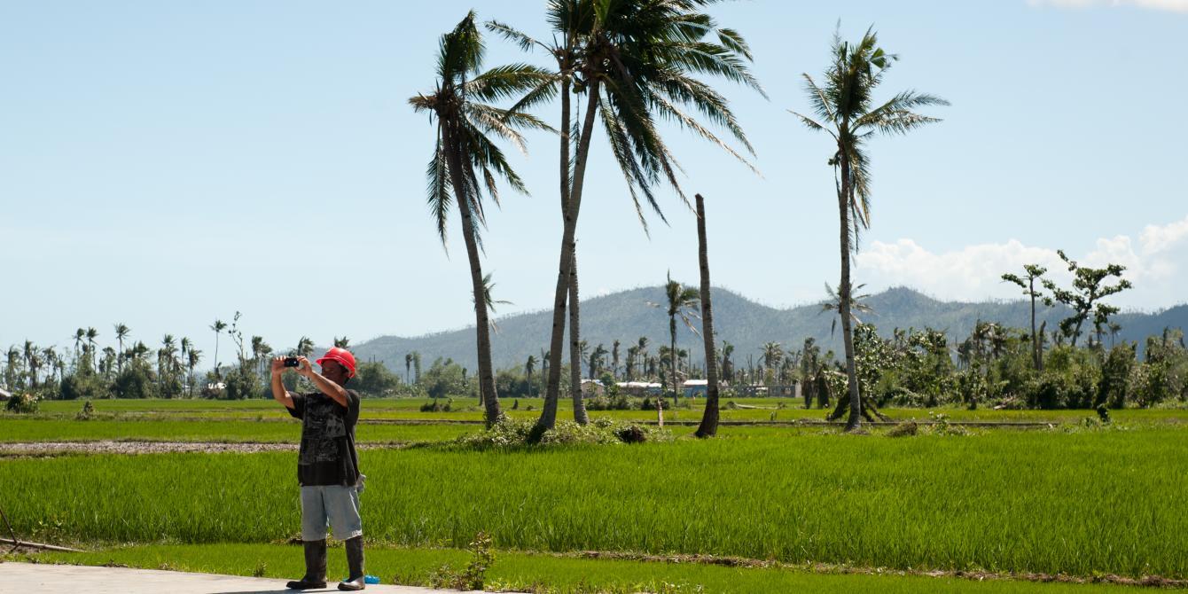 Felicito Montano, President of the Tugop Farmer's Association in Latufa, Tanauan.(Photo:Eleanor Farmer/Oxfam)