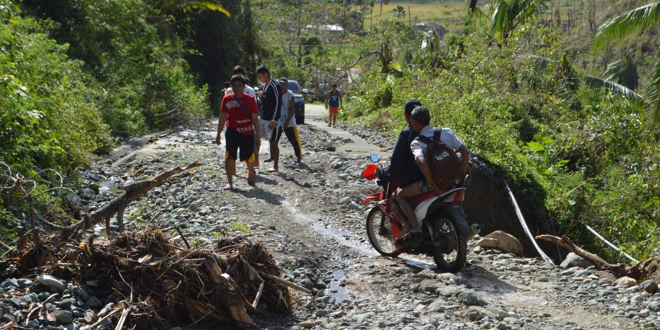 The remote villages of Barangay Dugui and Barangay Dugui Too were isolated for days after the onslaught of Typhoon Nina