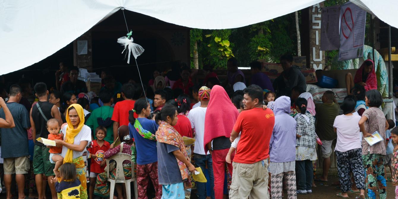 An evacuation center in Lanao del Norte