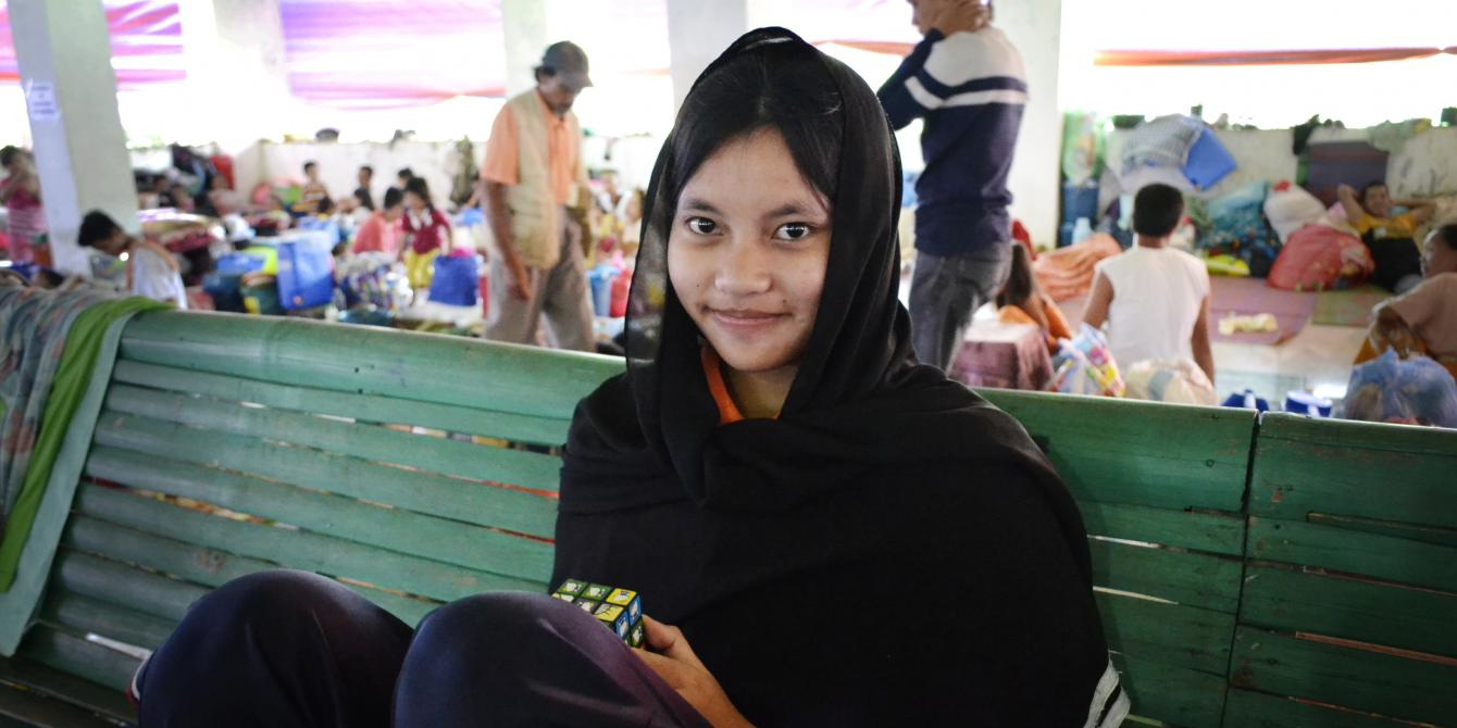 Marawi evacuee Osnia Atingan