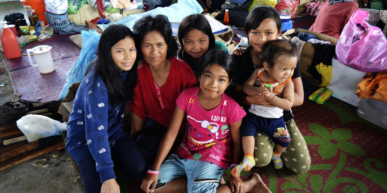 Marawi evacuee Sophia Bangunan
