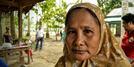 A woman from Tukalipnao in Mamasapano, Mindanao (Photo: Rhea Catada/Oxfam)