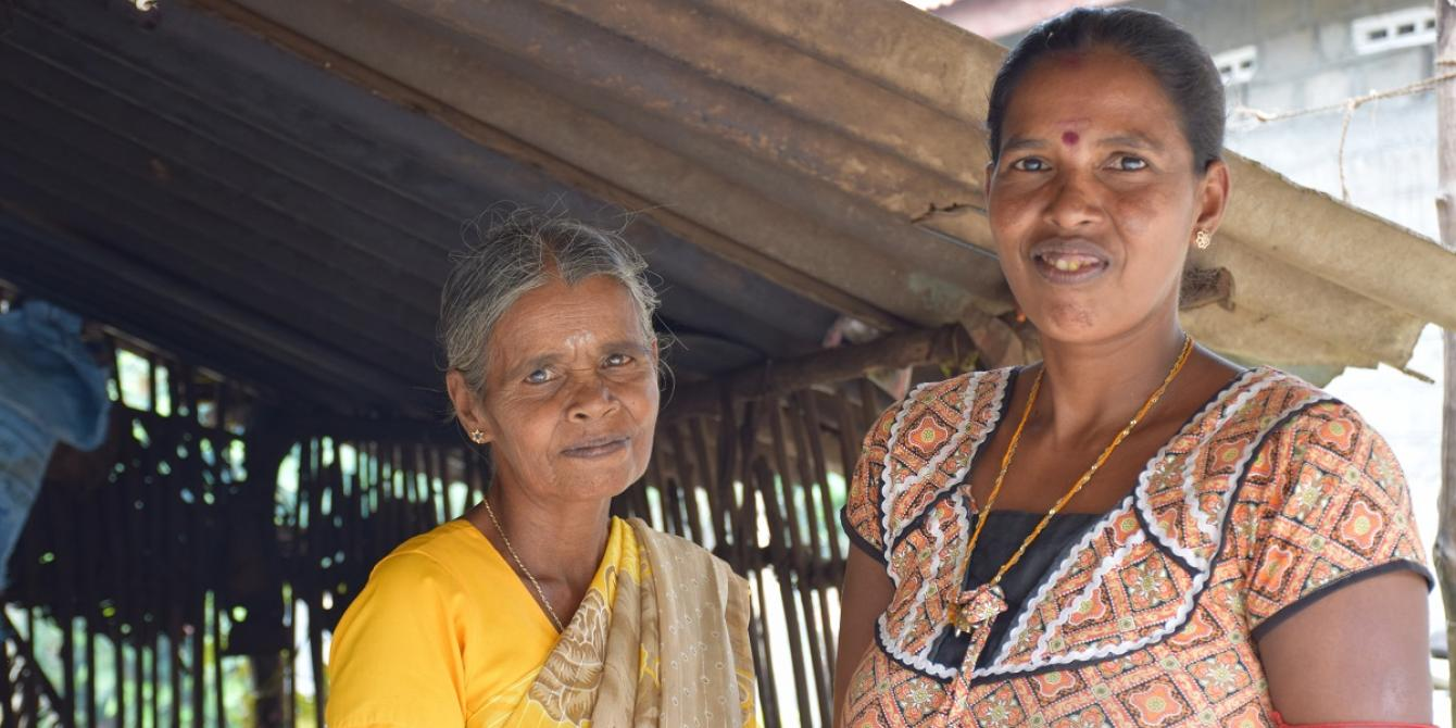 By processing rice before selling, women can earn more. Photograph: Nipuna Kumbalathara/Oxfam