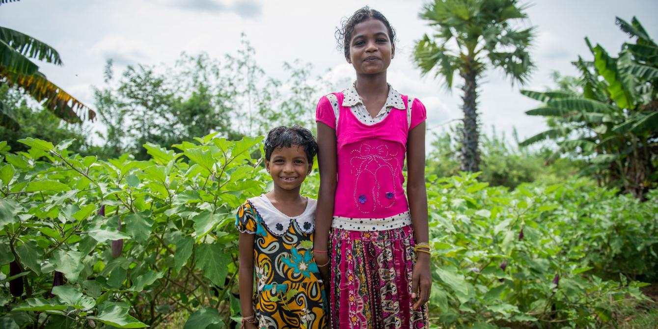 Children from a beneficiary community. Improving economic wellbeing of women and girls is a priority for Oxfam in Sri Lanka. Photograph: Pavithra Jovan de Mello/Oxfam