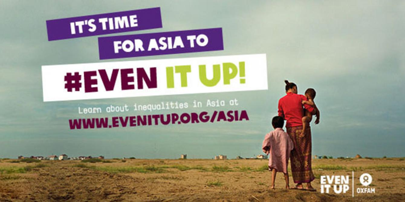 Even It Up campaign cover image. Copyright: Oxfam.