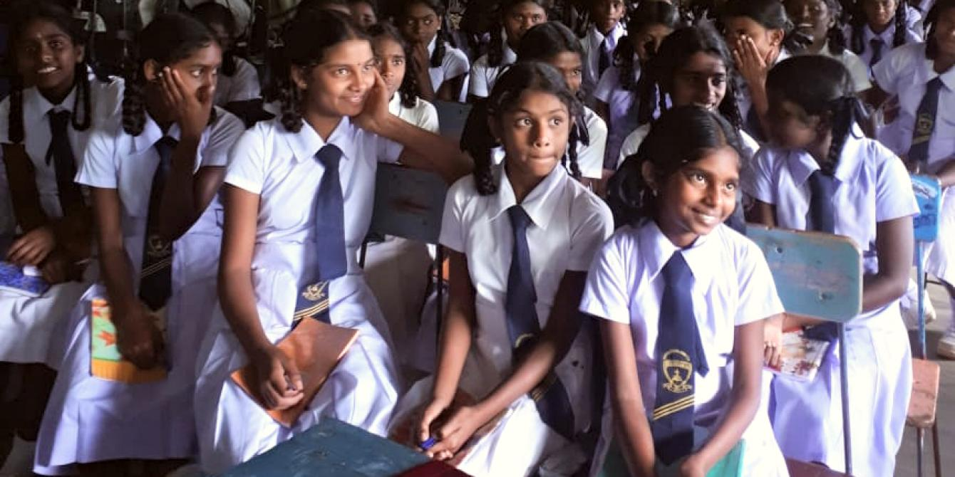 Young girls from Hatton Sri Lanka