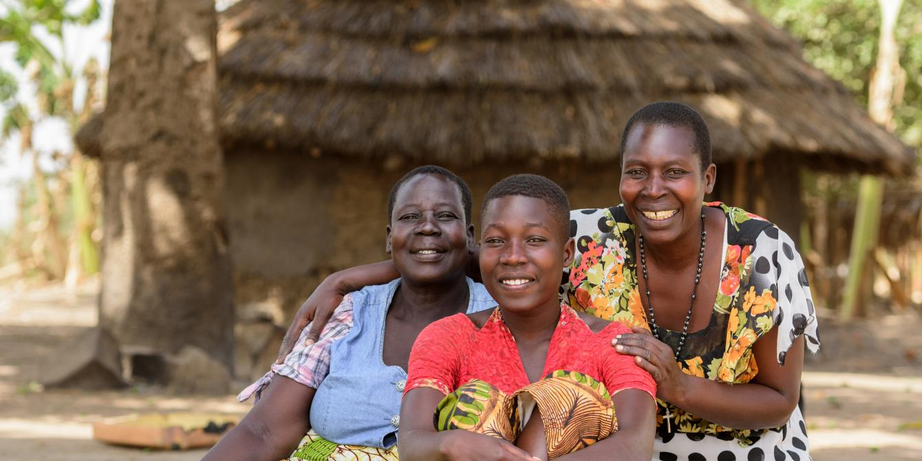 Teddy Aciro,her daughter and her mother were all trained by Oxfam in using the GALS methodology for gender justice- three empowered  generations. photo credit: Oxfam