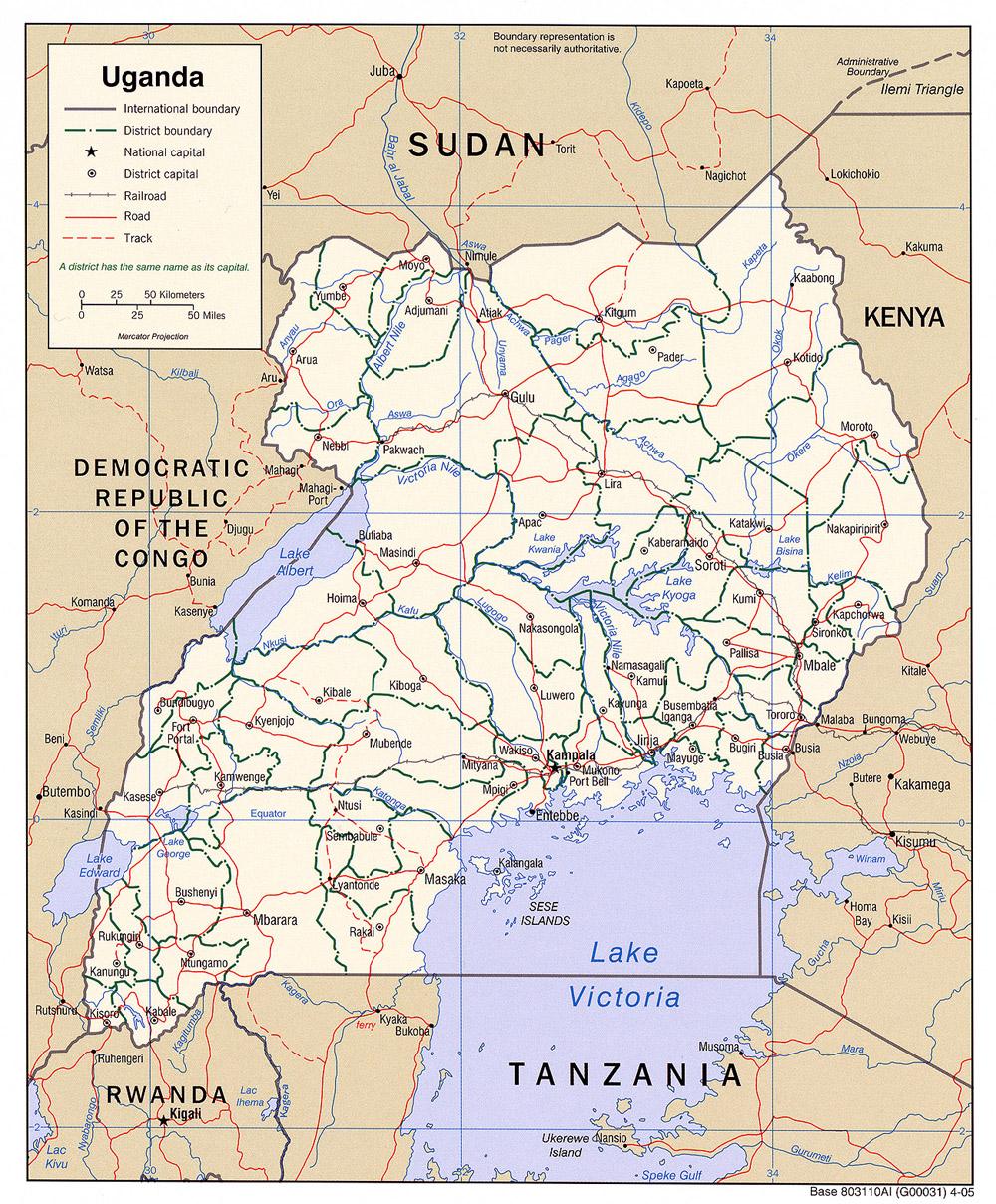 Map of Uganda / credit: Online source