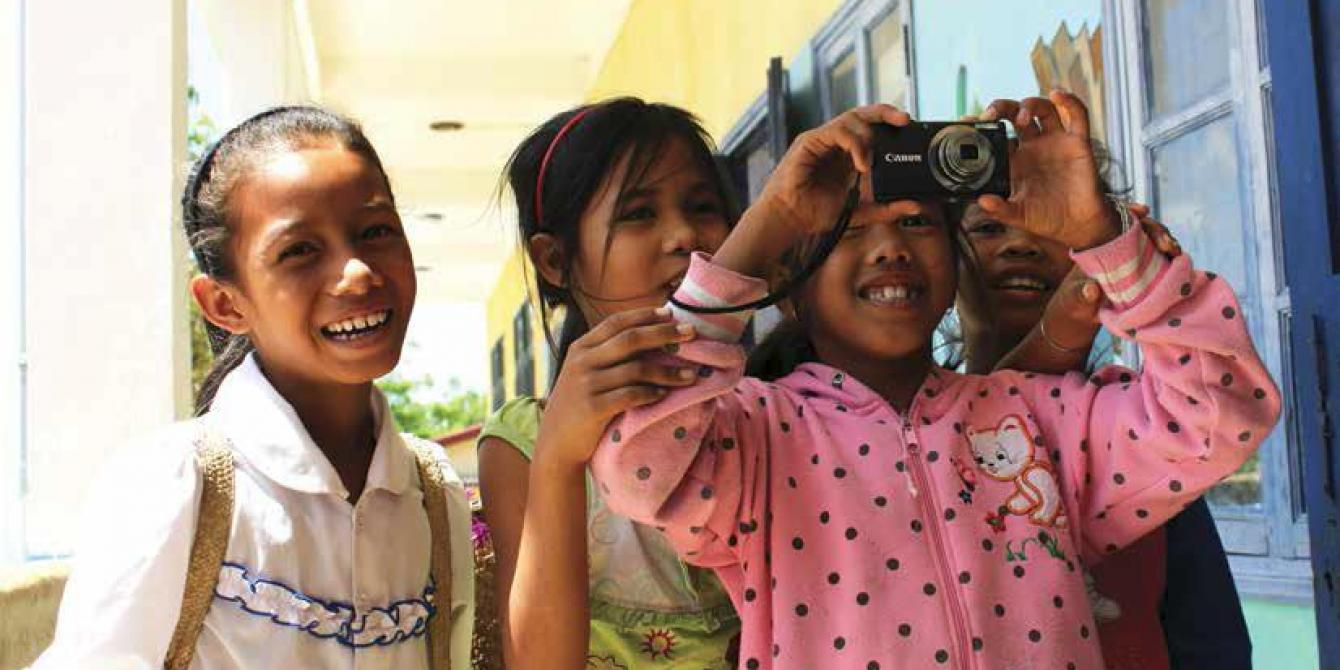 Rural children take part in a photovoice project. Credit: Oxfam Vietnam