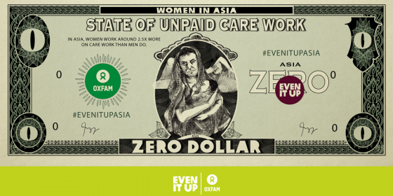 Women in Asia unpaid work. Credit: Oxfam in Asia